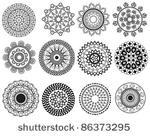 vector stock: Henna projeto da mandala - muito detalhada e facilmente editável
