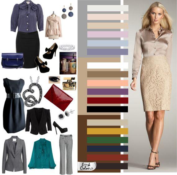 Классическая гамма отличается от деловой, разнообразием доступных оттенков и цветовых акцентов. Основная черта сочетаний – сдержанность, подчеркнутая элегантность. Броские краски считаются дурным тоном, поэтому отвергаются все светлые насыщенные, чистые тона. Чем сложнее цвет, тем больше он подходит в цветовую гамму классического стиля. Исключением является чистый красный цвет.