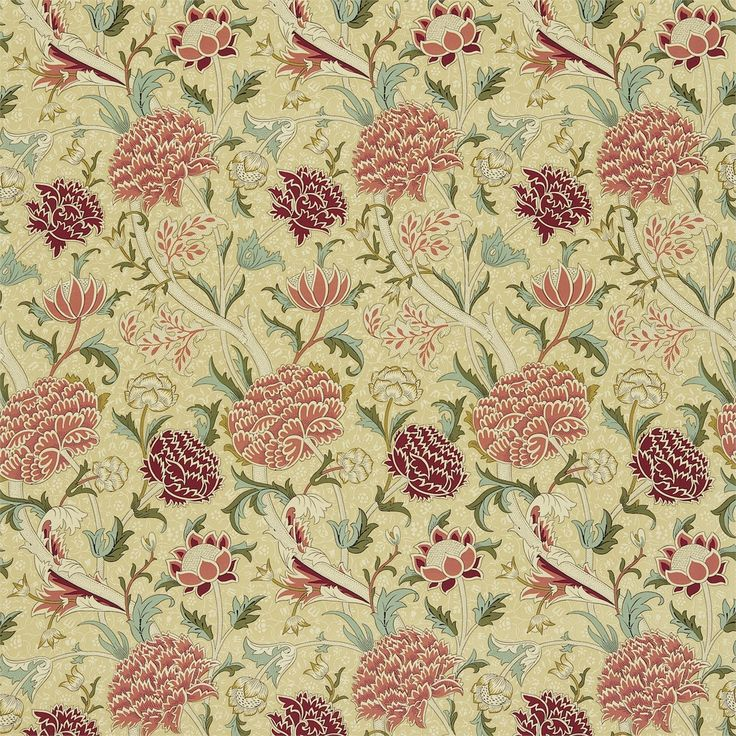 Best Walls Images On Pinterest Fabric Wallpaper Floral - Arts and crafts fabric patterns
