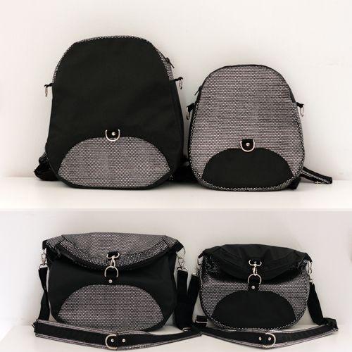 Patron sac à dos Limbo : sac à dos transformable en sac à bandoulière ou sac besace - Patron fourni en 2 tailles.