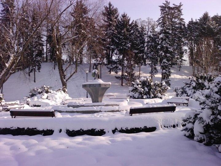 "Sculpture ""Alina"" - Zeromskiego Park / Wilson Square / Zoliborz / Warsaw / winter 2010"
