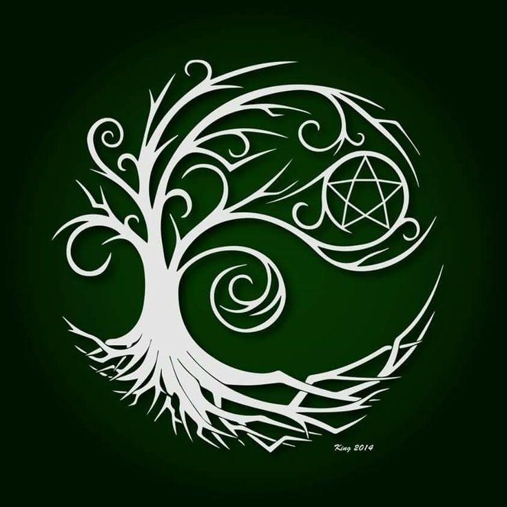 pentacle in tree wicca book of shadows pinterest tatouages mythologie celte et tatouage. Black Bedroom Furniture Sets. Home Design Ideas