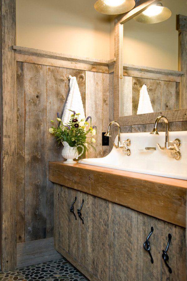 Rustic barn bathrooms 33 1 kindesign bathroom pinterest for Rustic bathroom ideas pinterest
