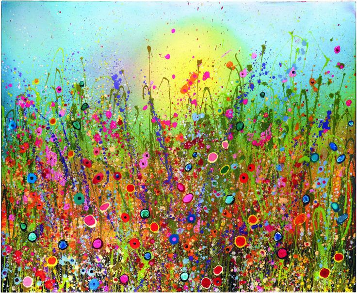 Flowerscapes wild flower paintings