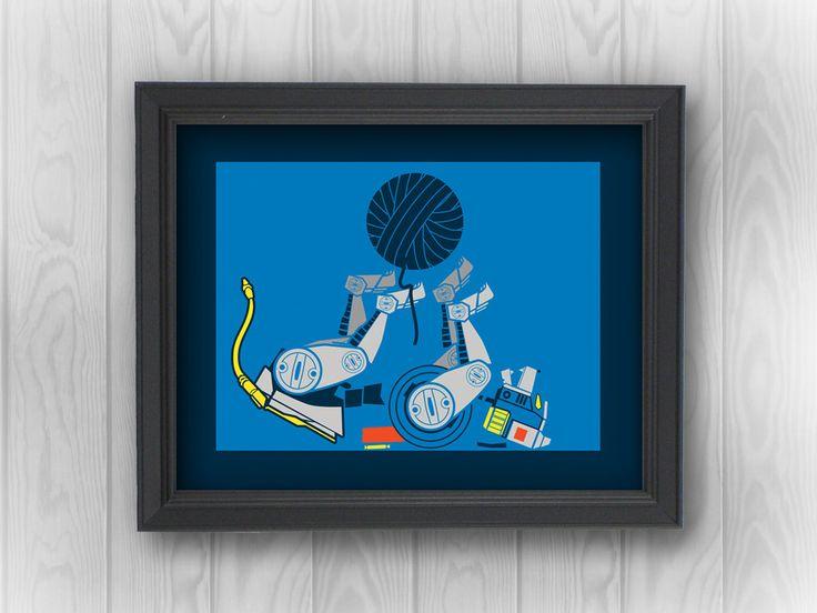 Voltron Robot Lion: Blue Legendary Defender, anime, cat, yarn, parody, funny | Minimalist Pop Art | Canvas Wall Decor, Print, Sticker by RemixComix on Etsy