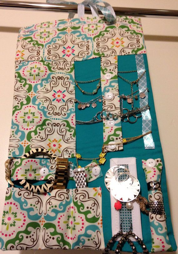 Travel Jewelry Roll by DesignsByKateT on Etsy
