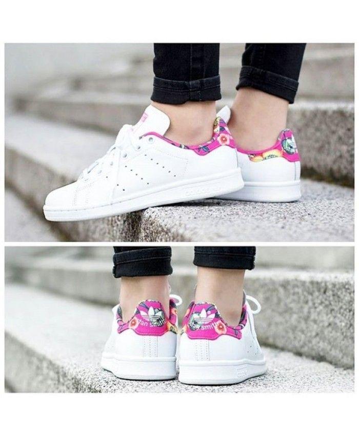 chaussure puma femme rose avec des fleurs