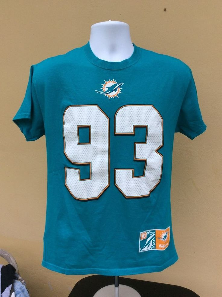 NFL Miami Dolphins T-Shirt Medium #93 Suh Football #Majestic #MiamiDolphins
