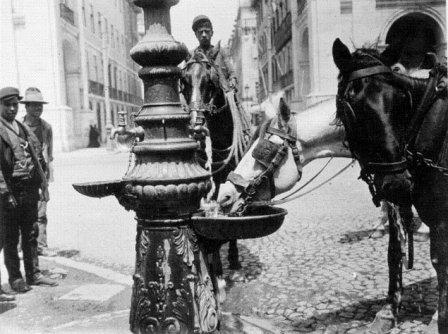 Bebedouro, Praça do Comércio, Lisboa, 1912