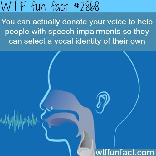 Donate your voice to help people - WTF fun facts: