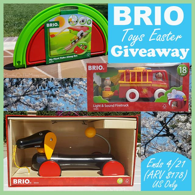 BRIO Toys Easter Prize Pack Giveaway. US Only 18+. Ends 4/21.