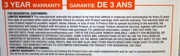 This lightbulbs warranty excludes acts of God.