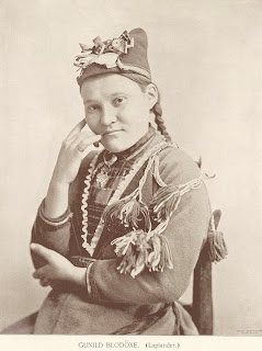 Sami woman. A pastoralist community that domesticated the reindeer. Live in Sweden, Norway, and Finland. Also commonly known as Lapplanders.