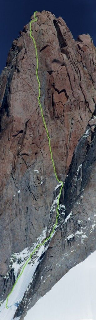 Invisible Line, Aguja Poincenot (3 002 m), Patagonie, 02/02/2015, Jindřich Hudeček, Michal Brunner