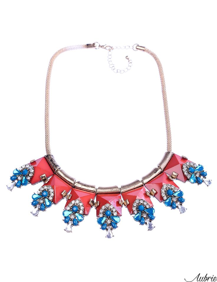 #aubrie #aubriepl #aubrie_necklaces #necklaces #necklace #jewelery #accessories #lotie #pastel #colorful #shine #crystal #blue #red #wine