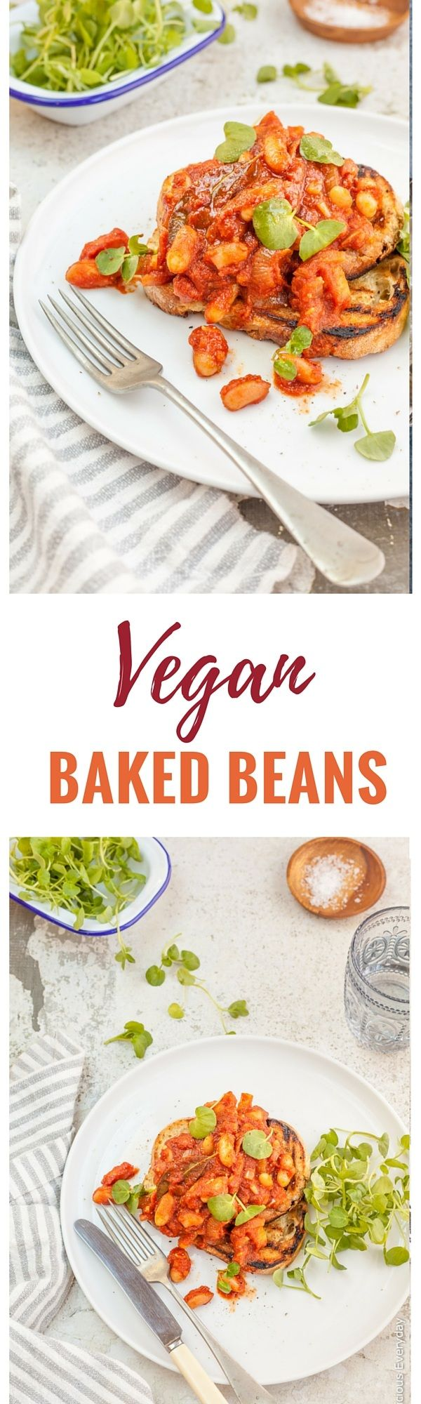 There is nothing quite as comforting as homemade baked beans. This vegan baked beans recipe is rich and smokey and oh so simple to prepare.