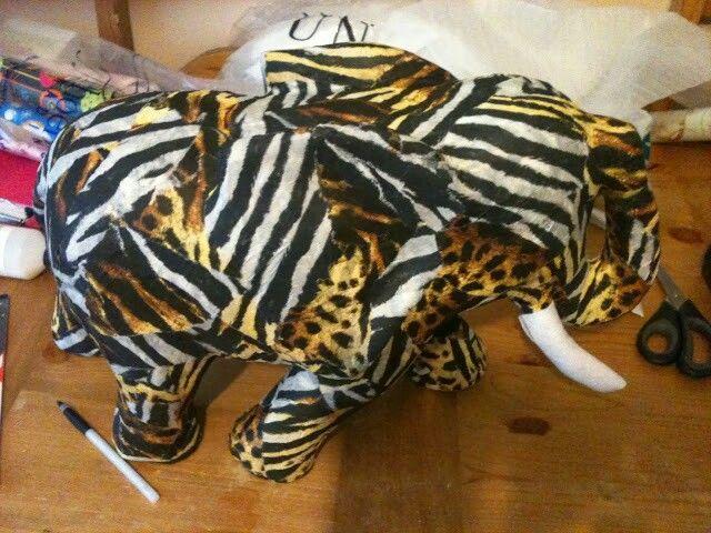 Animal print decopatch elephant