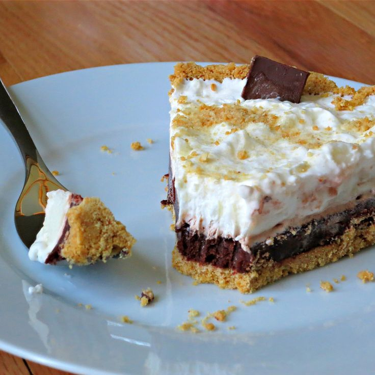 Easy Creamy S�more Pie