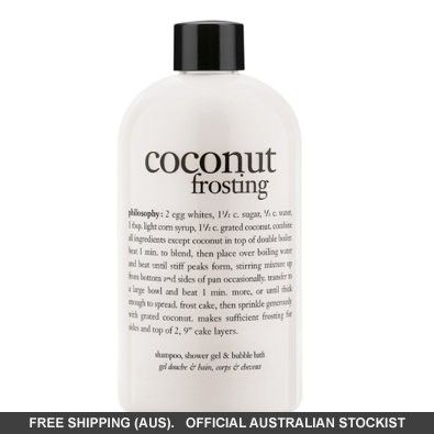 philosophy coconut frosting shampoo,  shower gel #adorebeautydreamhaul