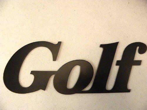 Metal Golf Wall Decor : Metal wall art decor golf word golfer gift by jnj