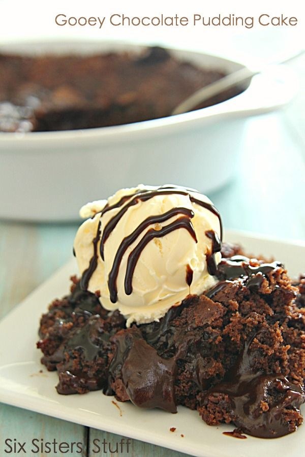 Warm Gooey Chocolate Pudding Cake on SixSistersStuff.com - this cake is amazing!