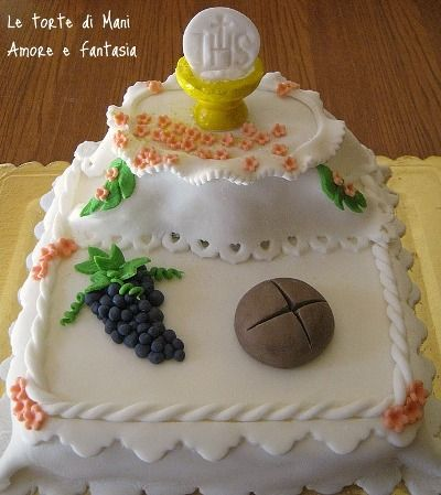 Torta per la Prima Comunione: Of, Torta Prima, First Communion, Decorata Prima, Cakes, Cakes Comunione, Torta Decorata, First Communion, Comunion Ideas
