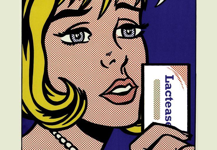 #TheMelodyHauntsMyReverie è un'opera del 1965 di #RoyLichtenstein, maestro della #PopArt americana. #Lichtenstein creava  geniali cortocircuiti mescolando arte d'élite, oggetti d'uso quotidiano, immagini dei mass media, eroi dei #fumetti e volti intensi di ragazze bellissime. Oggi, grazie a #LacteaseNellaStoria, al posto del microfono compare una confezione di #Lactease: indispensabile per chi è #intollerante al #lattosio.