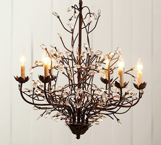 Camilla 6-Arm Chandelier | Pottery barn chandelier, Iron ...
