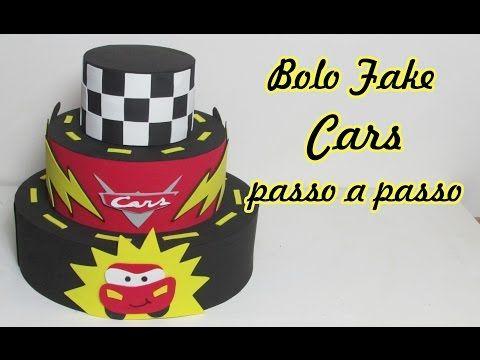 Bolo fake Cars passo a passo - YouTube
