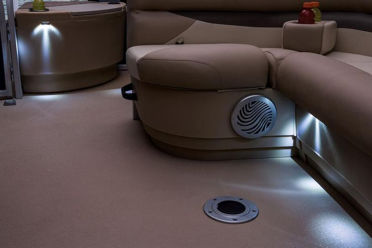 Interior courtesy lighting throughout http://www.exclusiveautomarine.com/product/fishin-barge-20-dlx