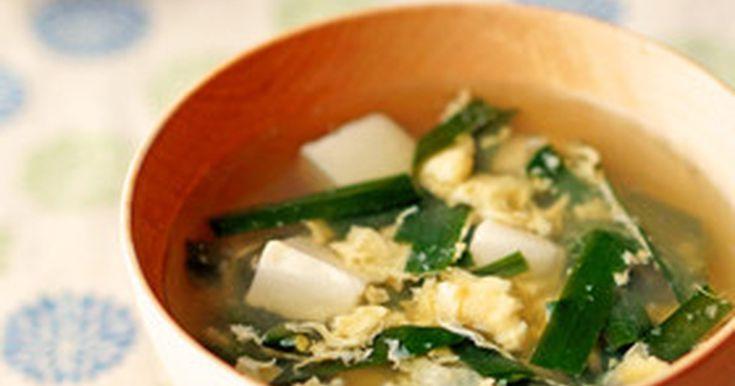 ✿100人&おいしい健康 掲載感謝✿ ふんわり卵に韮が香るかき玉汁♪お豆腐入りの優しい味です