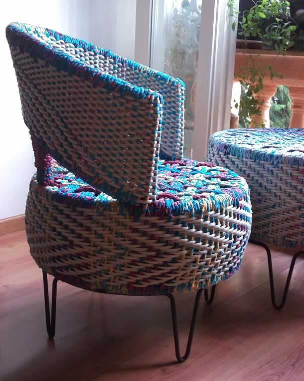 Colorful tyre furniture by The Retyrement Plan | Please subscribe to my weekly newsletter at upcycledzine.com ! #upcycle