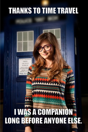 Thanks to time travel, Hipster Companion did everything before it was cool  New companion Jenna-Louise Coleman hasn't even been on an episode of Doctor Who yet, but she's already a meme.