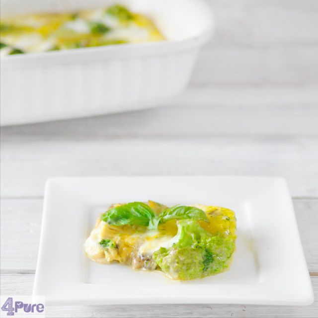 Frittata with broccoli - a vegetarian recipe. Delicious as lunch, dinner or appetizer