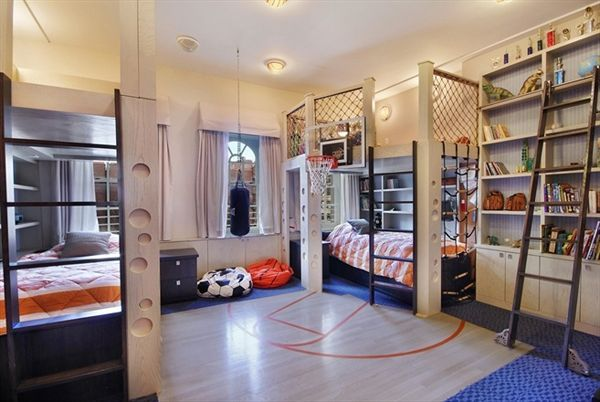 20 Sporty Bedroom Ideas With Basketball Theme Cool Kids Bedrooms Cool Kids Rooms Creative Kids Rooms