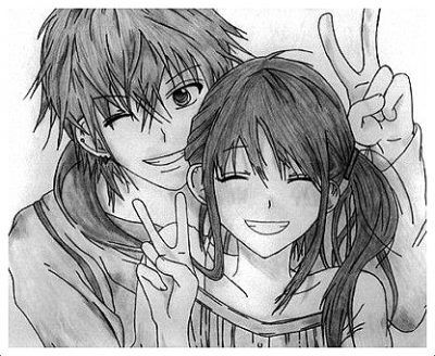 imagenes de animes enamorados para dibujar