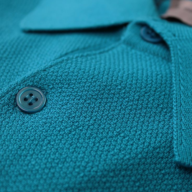Our beautifully vibrant shade for #SS17, Gaudi Blue. On our Roth polo shirt #PoetryofColour