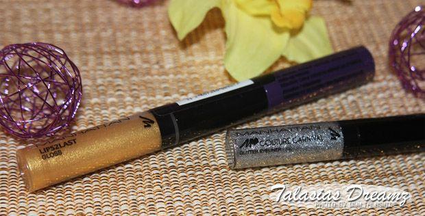 Manhattan Carnival Couture Lips2Last Gloss 1 & Glitter Eyeliner Silver Twinkle  http://www.talasia.de/2013/04/08/manhattan-couture-carnival-glitter-eyeliner-und-lips2last-gloss/