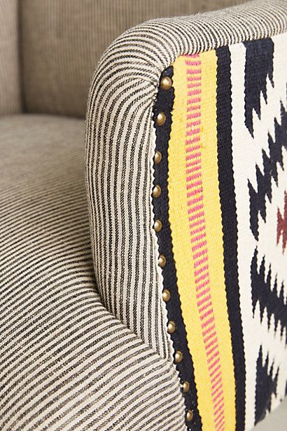 Use rugs as accent on outside back and sides