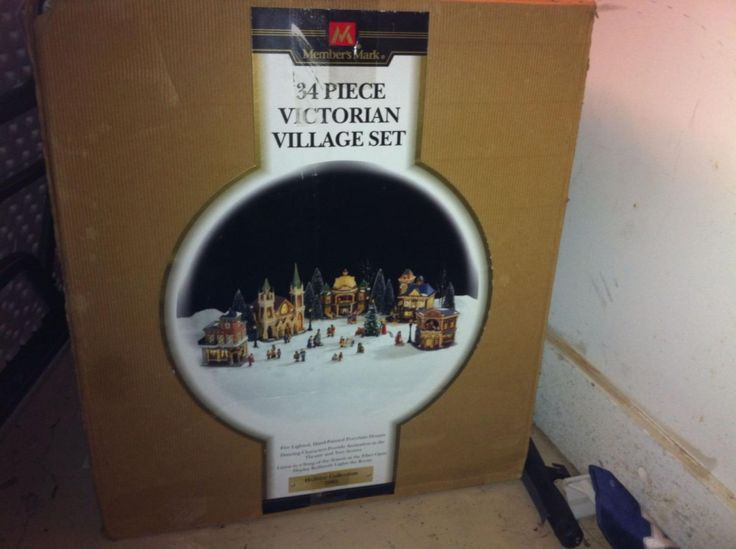 34 Piece Christmas Victorian Village By Members Mark