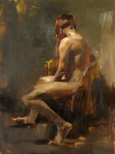 AAU Figure Painting 2 Day 1, painting by artist Qiang Huang