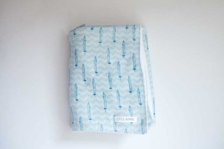 Swaddle Baby Blanket- Feathers Plush Fleece by Little Humans by shoplittlehumans on Etsy