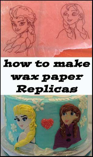 how to make wax paper replicas