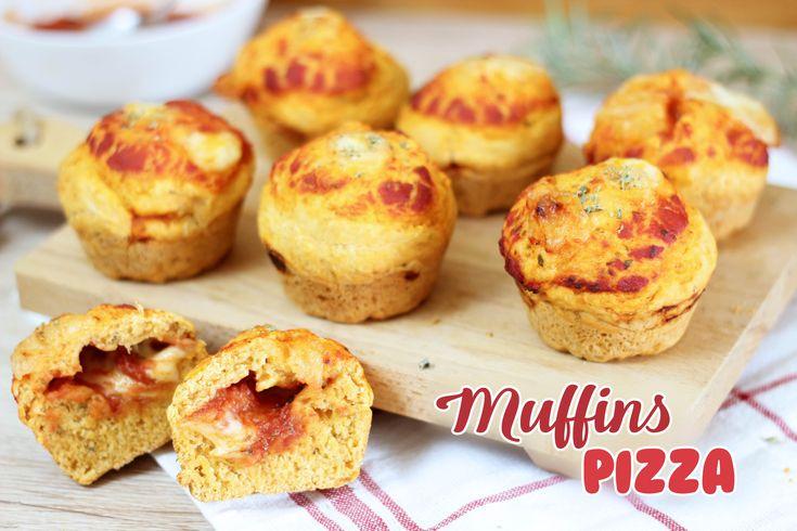 MUFFINS PIZZA CON CUORE FILANTE – MUFFINS SALATI