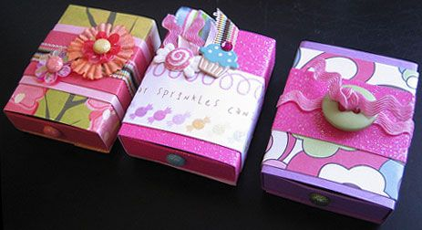 {cute, cute and cuter} - view a step-by-step tutorial with photos for making these paper matchboxes,