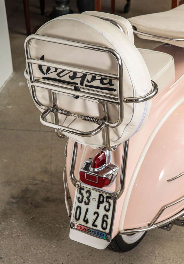Fully Restored 1963 Pink with White Leather Vintage Italian Piaggio Vespa image 10