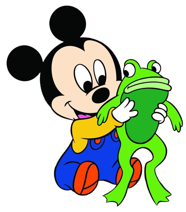 Baby Mickey W Frog