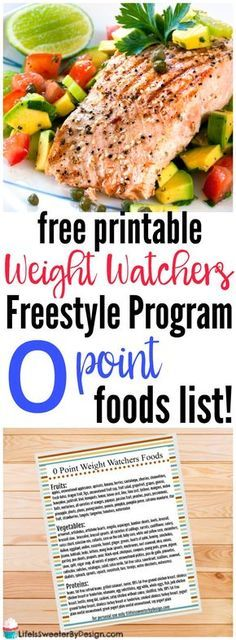 Weight Watchers Zero Point Foods List free printable for the new Freestyle Program! This cheat sheet will help you remember what to eat!