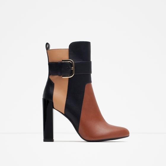 Image 1 of TRICOLOR BOOTIES from Zara