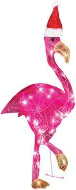 Gemmy LED Sparkles Flamingo Lightshow Outoor Holiday Decoration by Gemmy. $69.99. Open-wire frame for durability. 30 lights for bright holiday decoration. 60 in. cord offers plenty of reach for indoor or outdoor use. LED lights are energy efficient. 32 in. 30-Light. Add brilliance to your holiday decor with the 32 in. 30-Light Sparkle Flamingo. This flamingo features an open-wire frame with 30 energy-efficient LED lights for a bright, sparkling glow. A 60 in. long cord makes ...